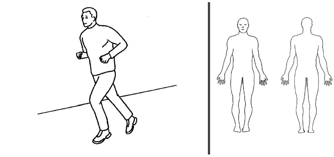 Løpe kort distanse intervall