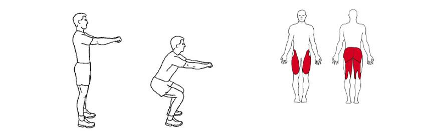 Knebøy hiit trening