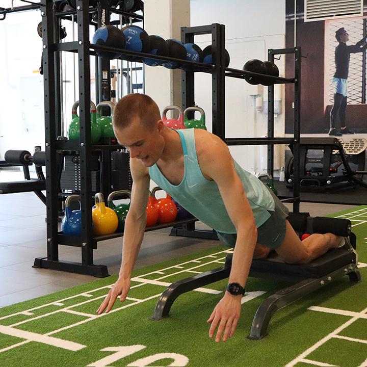 Nordic hamstring øvelse