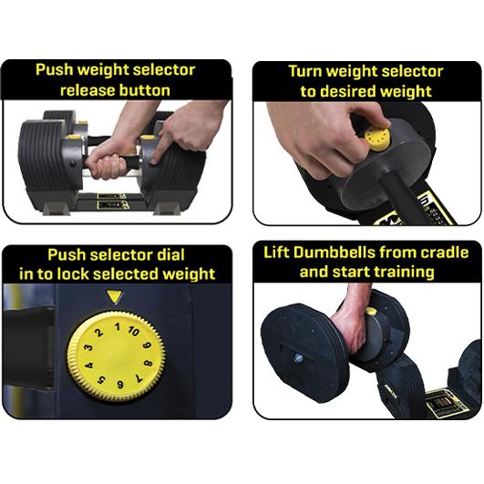 Guide til justering av vekt på fleksimanual