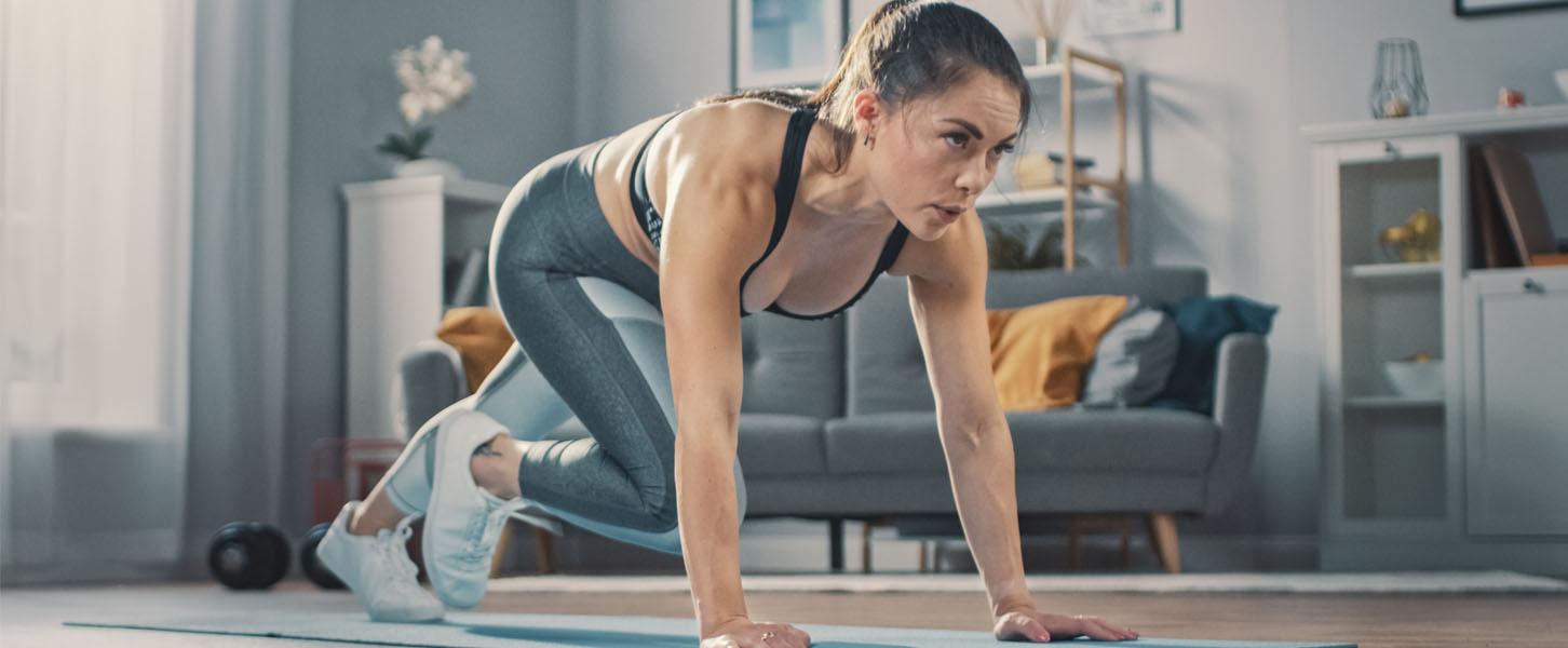 Bannerbilde til sterk kropp med enkel hjemmetrening