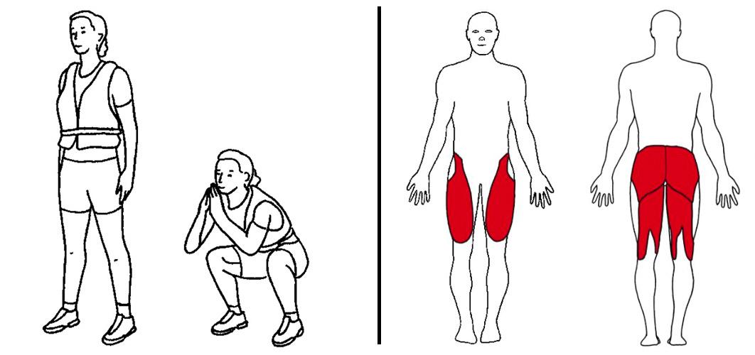 knebøy med vektvest