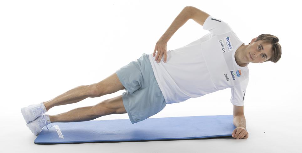 Jarl Magnus Riiber på treningsmatte