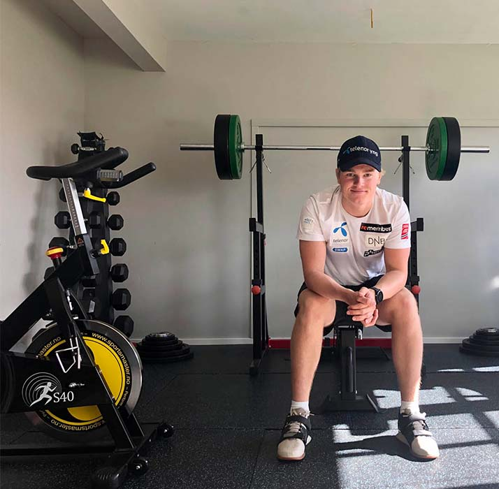 Atle Lie McGrath i treningsrommet