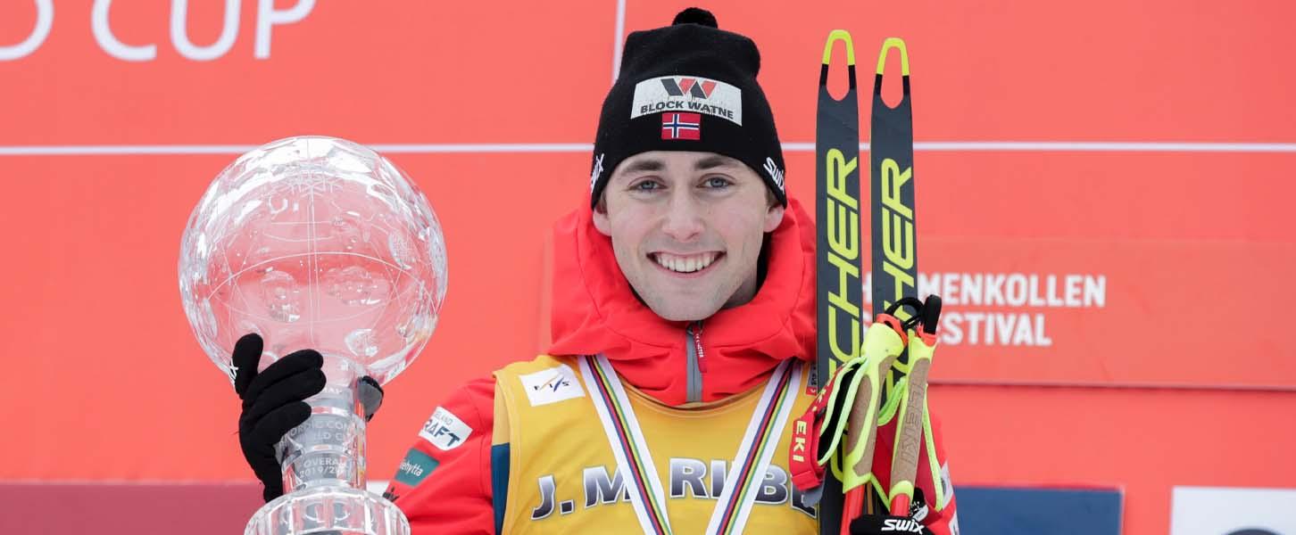 Bannerbilde av Jarl Magnus Riiber vinner av verdenscupen i kombinert