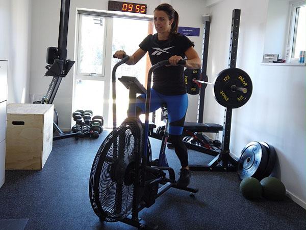 Kristin Holte Assault Fitness Airbike
