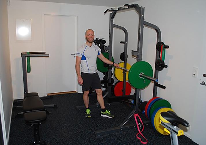 Martin Johnsrud Sundby treningsrom half rack