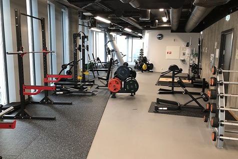 Orkla treningsrom for ansatte med treningsapparater