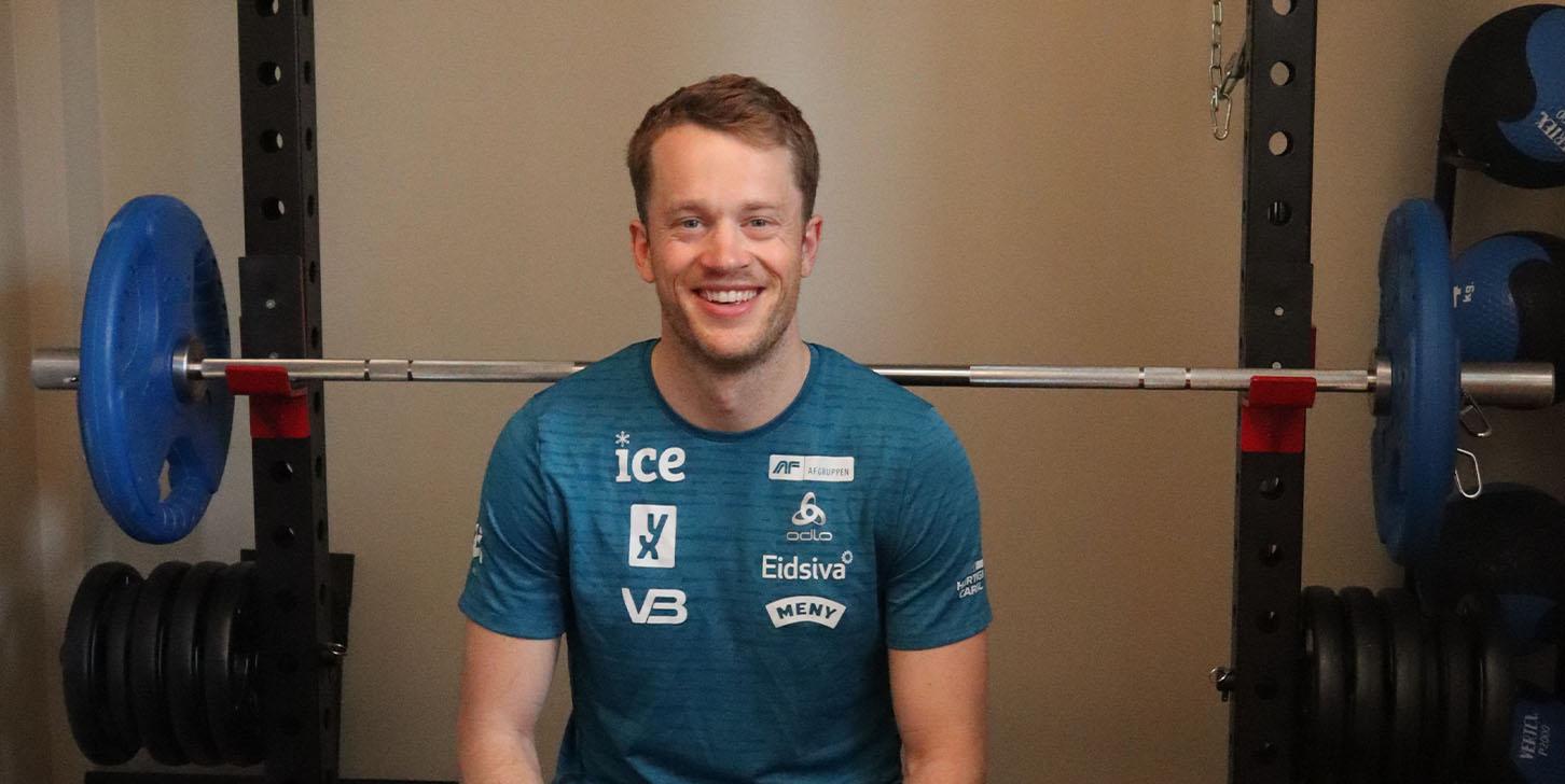 Tarjei Bø har innredet treningsrom fra Sportsmaster