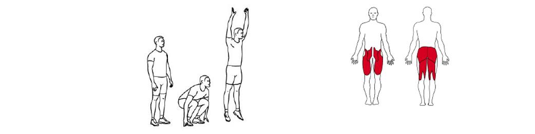 Illustrasjon avHoppende knebøy