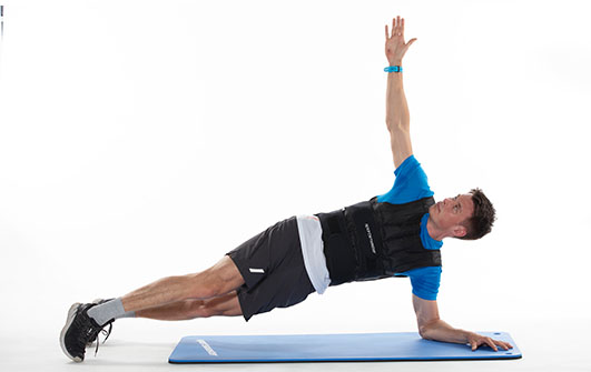 Planke med vektvest