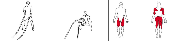 Illustrasjons bilde av utførelse avknebøy med battlerope