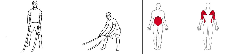 Illustrasjons bilde av utførelse av battlerope bue