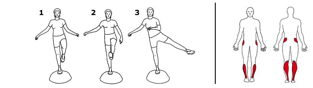 Balansetrening på bosu ball