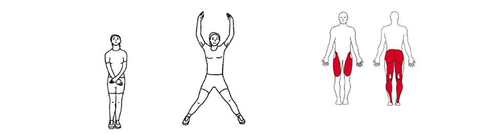 Illustrasjonsbilde av utførelse av Jumping Jacks