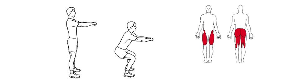 Illustrasjonsbilde av utførelse av knebøy