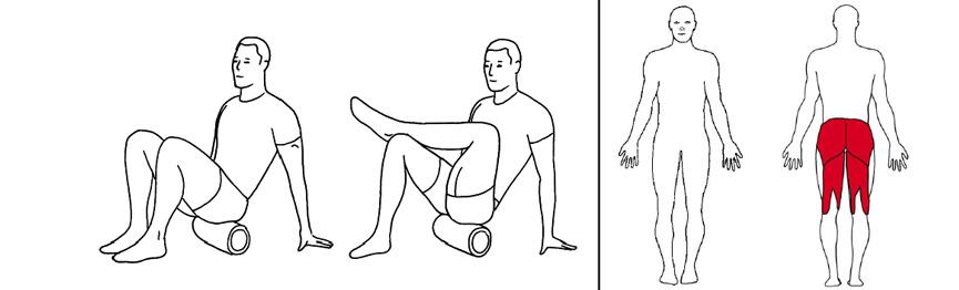 Illustrasjons bilde av trening utside sete med foamroller