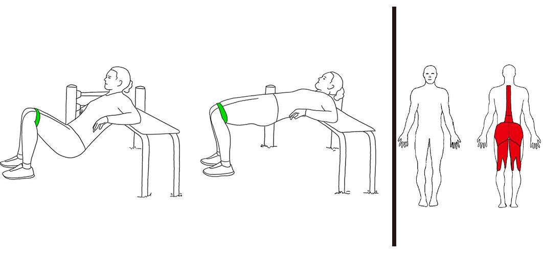 hip thrust med strikk