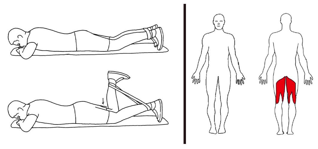 knefleksjon med strikk