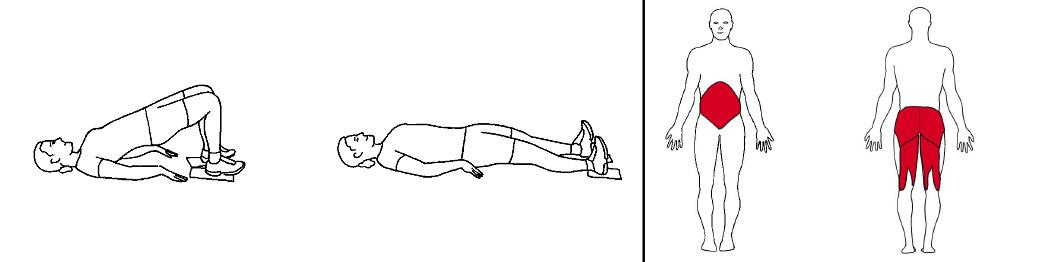 Illustrasjons bilde av lårcurl med slides