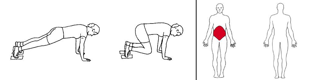 Illustrasjons bilde av doble bendrag på strake armer med slides
