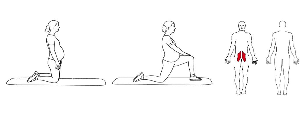 tøyeøvelse for hofteleddsbøyeren