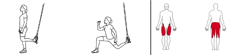 Illustrasjons bilde av utfall med fot i slynge