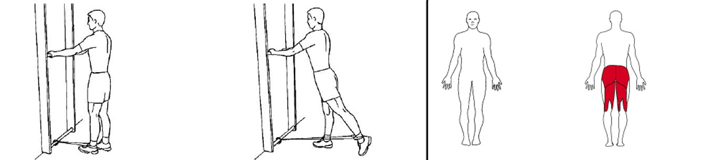 Illustrasjonsbilde av utførelse av stående benhev bak m/strikk