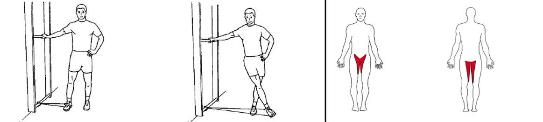 Illustrasjonsbilde av utførelse av stående bentrekk inn m/strikk