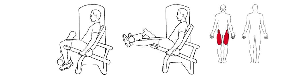 Illustrasjon av knestrekk øvelse