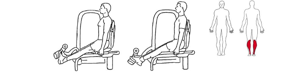 Illustrasjon av ankelstrekk øvelse
