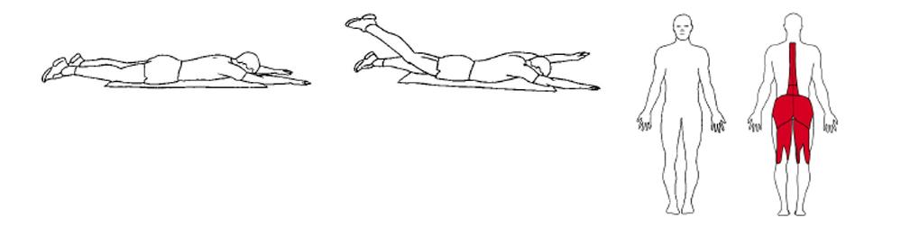 Illustrasjons bilde av utførelse av mageliggende diagonalhev