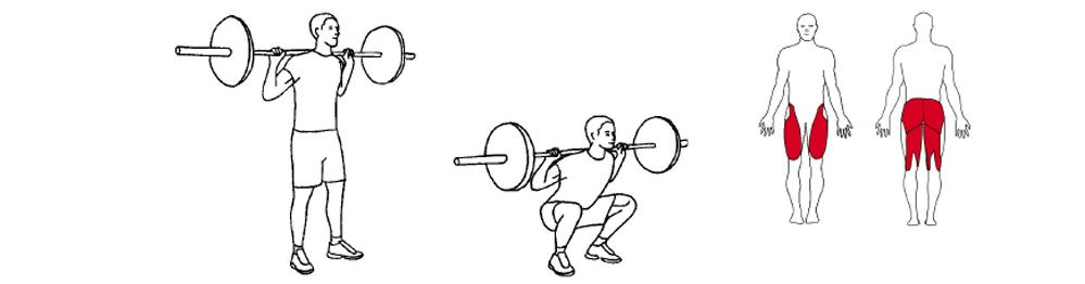 Illustrasjons bilde av utførelse av knebøy