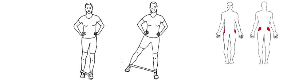 Dead bug m/medisinball abduksjon av hofte m/strikk