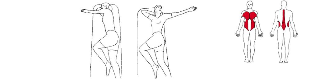 Illustrasjon av utførelse av rotasjon øvelse til tennistrening