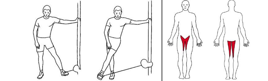 Illustrasjonsbilde av Stående bentrekk inn med trekkapparat