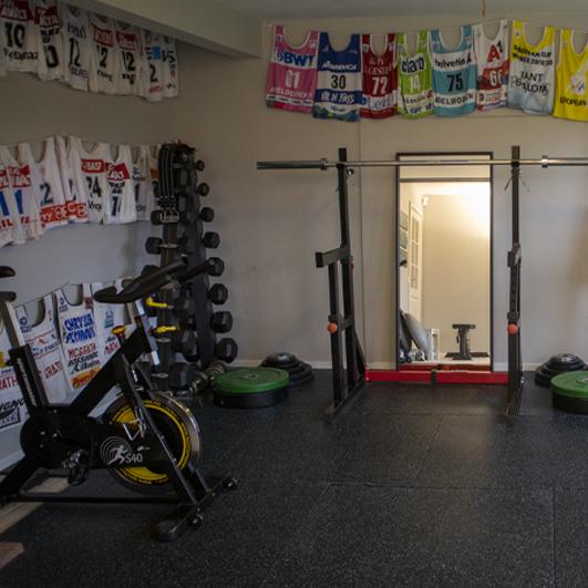 Atle Lie McGraths treningsrom