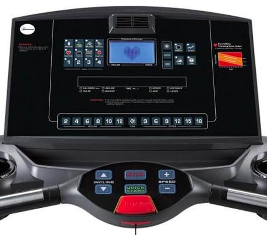 Display på sportsmaster tredemølle T300