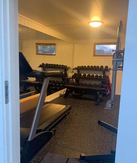Tredemølle treningsrom