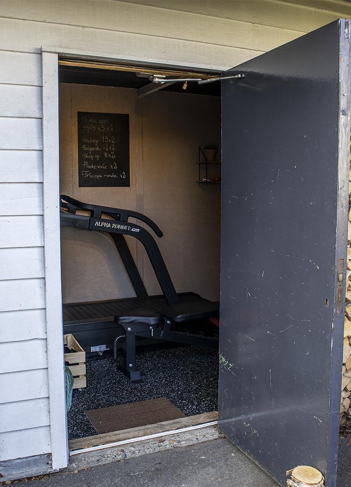 Inngangen til Ninas treningsrom