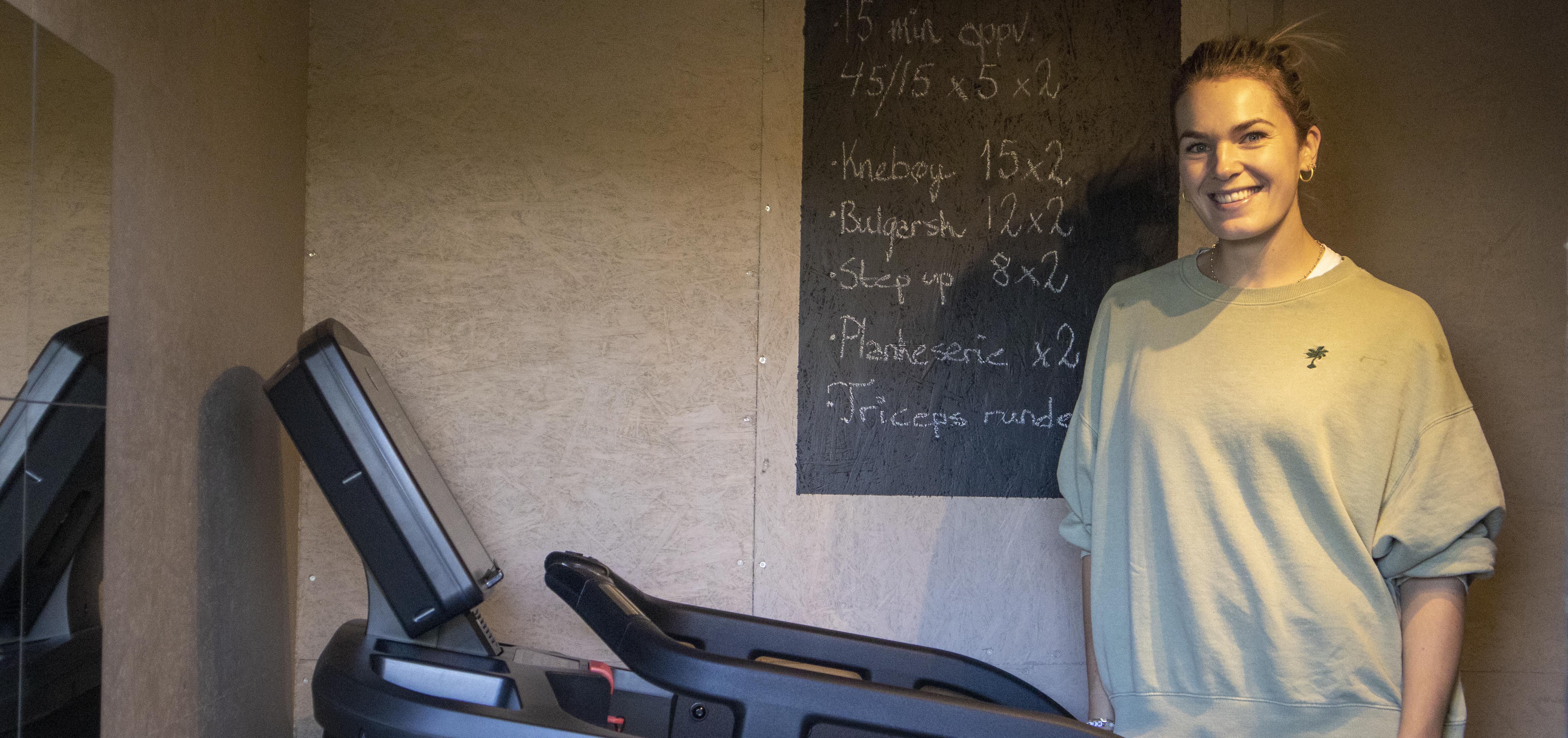 Nina Løseth har innredet treningsrom fra Sportsmaster