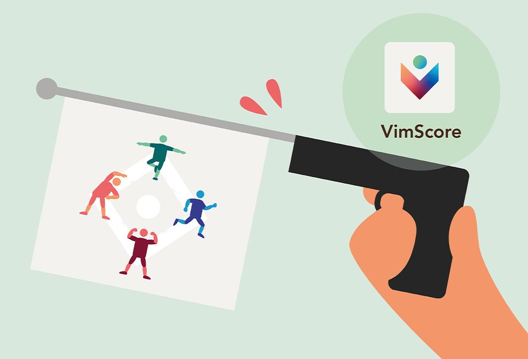 VimScore hjelper deg med å komme i gang med trening